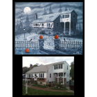 CUSTOMIZED HOLIDAY HOUSE PAINTINGS 11x14