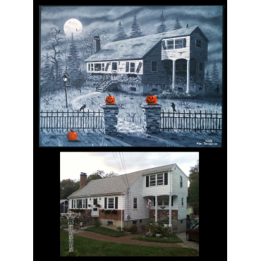 CUSTOMIZED HOLIDAY HOUSE PAINTINGS 11x14 (1)
