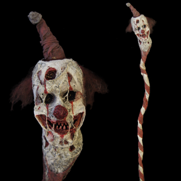 DECAYED CLOWN WALKING STICK
